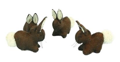 Afbeeldingen van Donker bruin konijntje