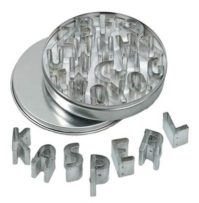 Afbeeldingen van Metalen uitsnijvormpjes letters