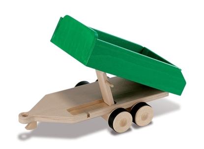 Afbeeldingen van Groene dubbel-assige aanhangwagen