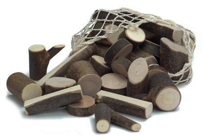 Afbeeldingen van Blokken in takkenhout
