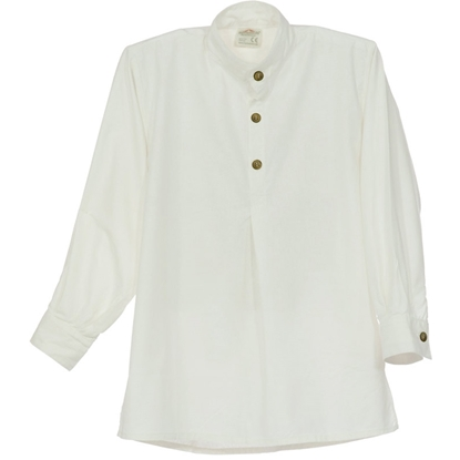 Afbeeldingen van Ridder hemd in wit katoen