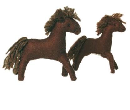 Afbeeldingen van Donker bruin paard