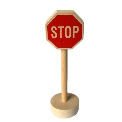 Afbeeldingen van Houten verkeersteken stop