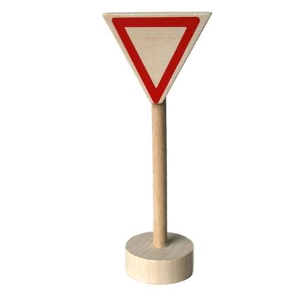 Afbeeldingen van Houten verkeersteken voorrangsdriehoek