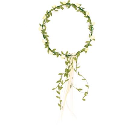 Afbeeldingen van Wit bloemenkroontje