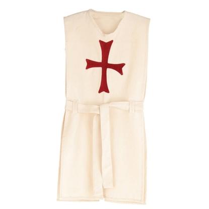 Afbeeldingen van Ridderkleed wit met rood kruis