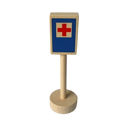 Afbeeldingen van Houten verkeersteken hospitaal