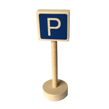 Afbeeldingen van Houten verkeersteken parking
