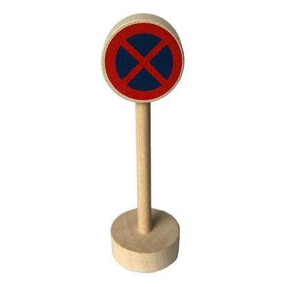 Afbeeldingen van Houten verkeersteken verboden te stationeren