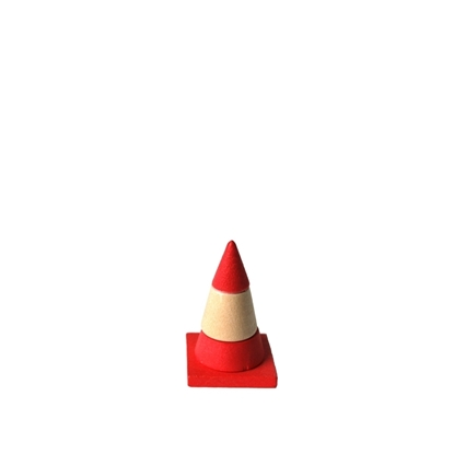Afbeeldingen van Houten verkeerskegel