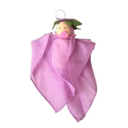 Afbeeldingen van Zijden lavendel lappenpopje
