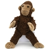 Standing monkey made of dark brown organic cotton.