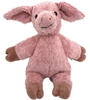 Standing cuddle pig made of pink organic cotton.
