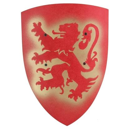 Afbeeldingen van Groot rood ridderschild met leeuw