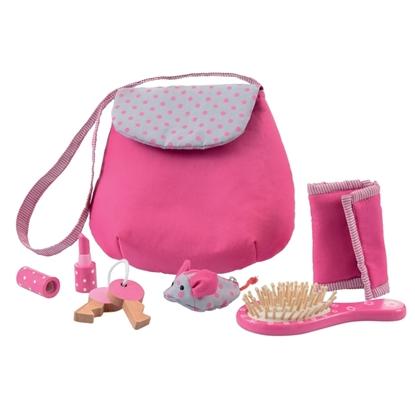 Afbeeldingen van Katoenen handtasje voor poppenmoeders