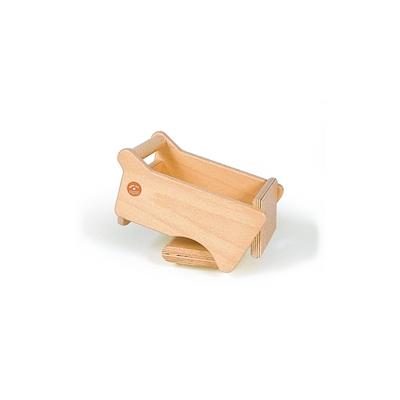 Houten speelgoed kipper, opbouw om op een voertuig te plaatsen.