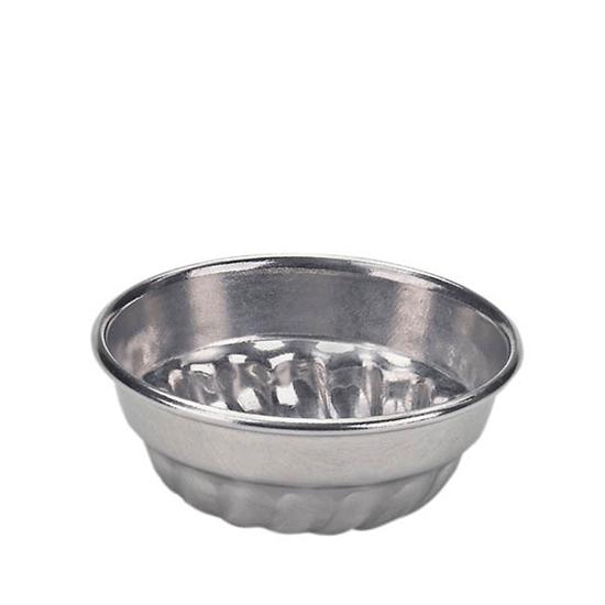 Aluminium jelly vorm of bakvorm voor kinderen met een diameter van 7 cm.